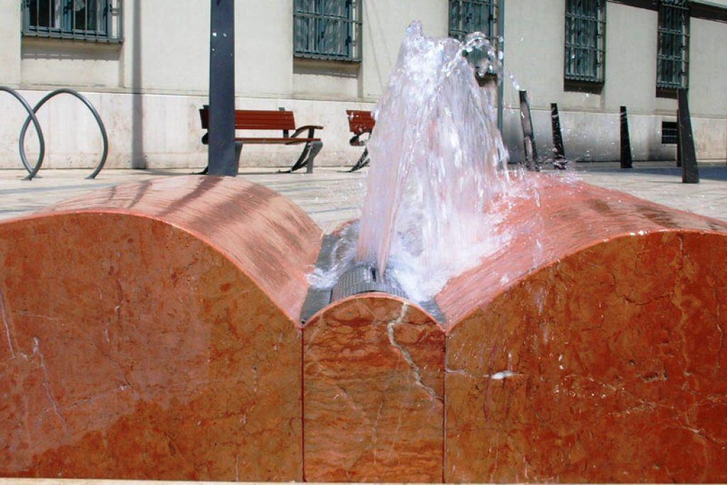Open book fountain, Budapest
