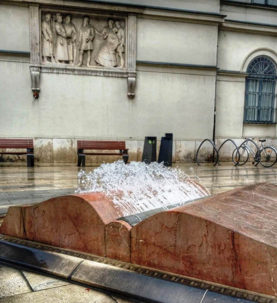 Open book fountain, Budapest